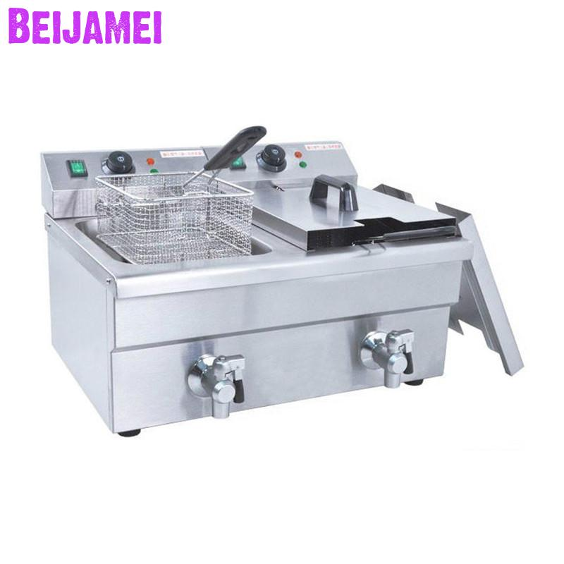 BEIJAMEI 6LFE-2 Stainless steel electric frying furnace commercial large frying machine fried chicken and French friesBEIJAMEI 6LFE-2 Stainless steel electric frying furnace commercial large frying machine fried chicken and French fries