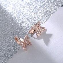 CARSINEL, новинка, серьги-бабочки, медь, золото, цвет, кубические серьги-кольца с цирконом для женщин, серьги-бабочки ER0537