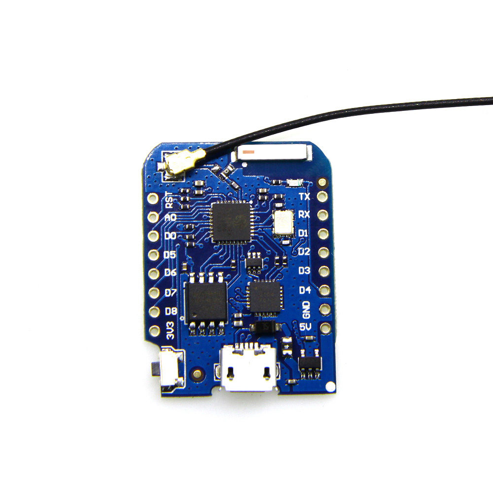 D1 mini Pro V1.1.0 - 16M bytes <font><b>external</b></font> <font><b>antenna</b></font> connector <font><b>ESP8266</b></font> WIFI Internet of Things development board+<font><b>antenna</b></font> image