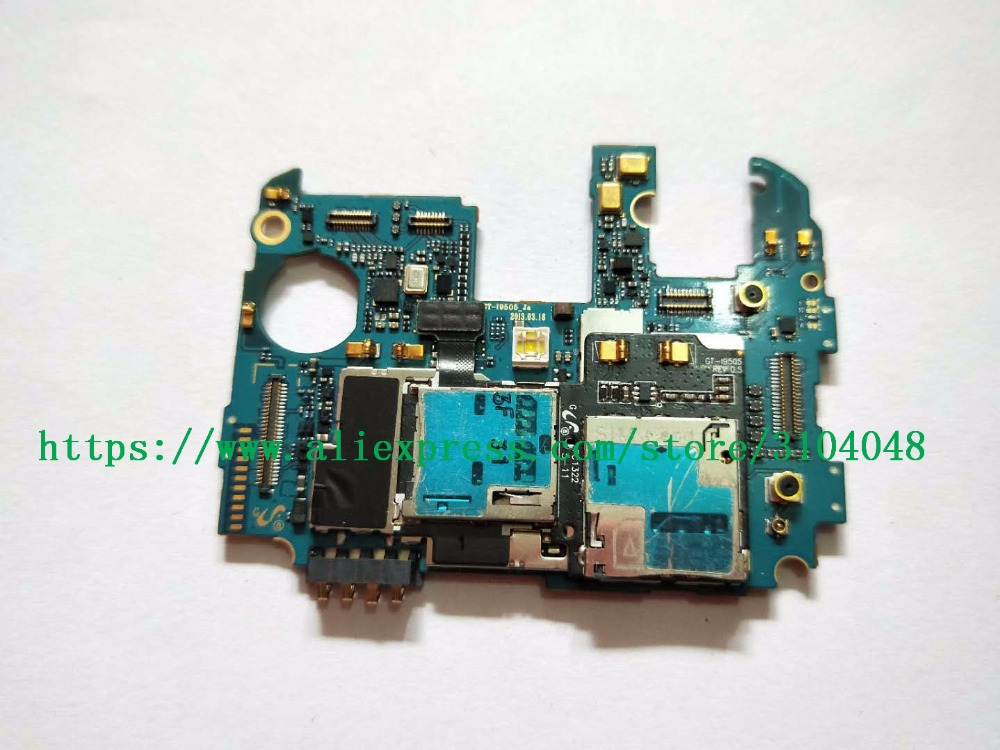 95% work Europea version original unlocked motherboard for <font><b>samsung</b></font> <font><b>Galaxy</b></font> <font><b>S4</b></font> i9505 main system <font><b>board</b></font> with chips image