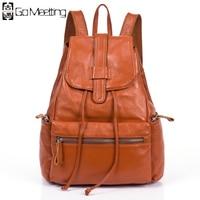 The New 2014 Head Layer Cowhide Leather Backpack Knapsack Handbag Fashion Female Bag