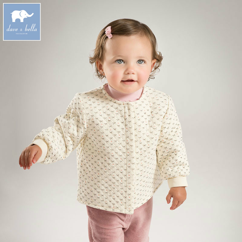 DB5888 dave bella autumn infant baby unisex  boys girls sleep top kids printed pajamas tops children soft undershirt