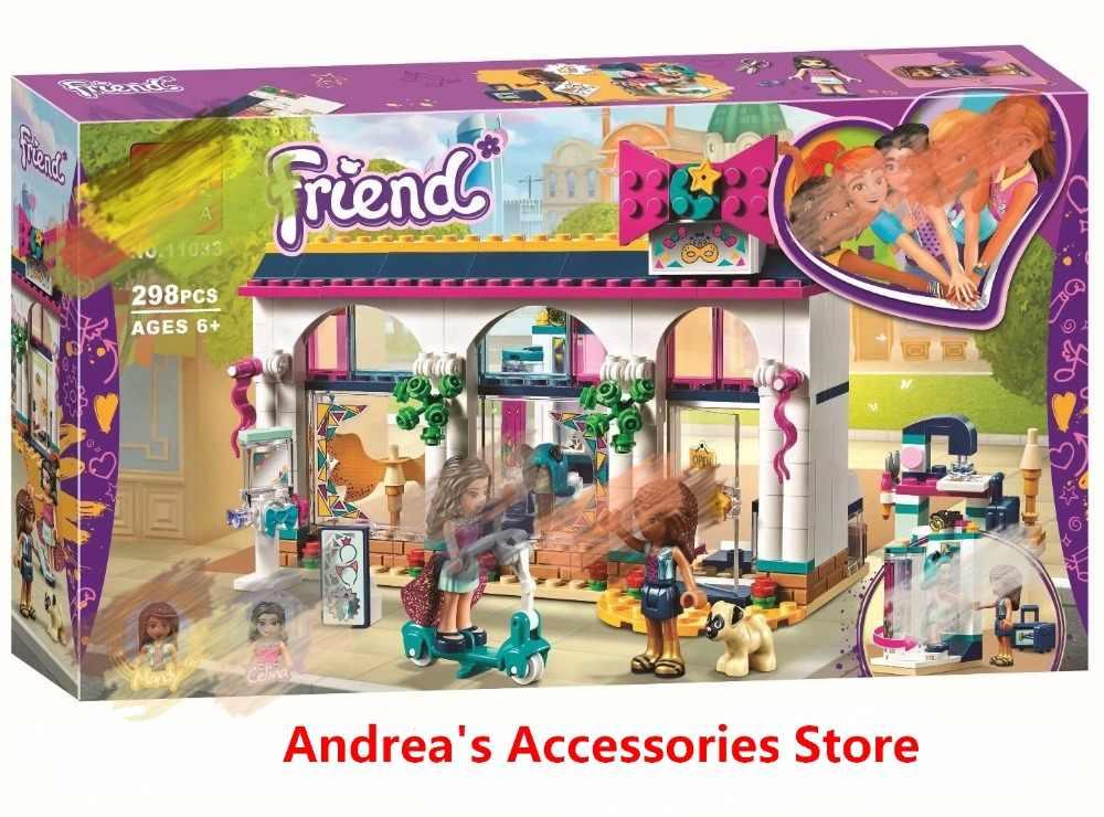 2019 Novos Amigos Série Mandy Celina Andrea's Loja de Acessórios Blocos de Construção Compatível com Lego 41344 Brinquedos Presente Para As Crianças