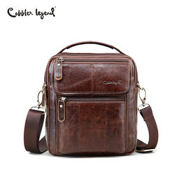 Cobbler Legend Genuine Leather Mens Bags Small Flap Casual Messenger Bag Male Crossbody Bags Men's Shoulder Bag Business Handbag