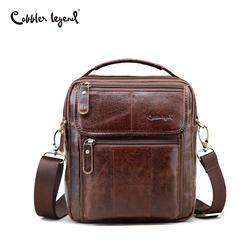 Cobbler Legend Genuine Leather Mens Bags Small Flap Casual Messenger Bag Male Crossbody Bags Men's Shoulder Bag Business Handbag