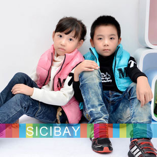 New Arrivals Retail Hot Kids Vests Winter Waistcoats Warm Stylish Candy Color,Free Shipping
