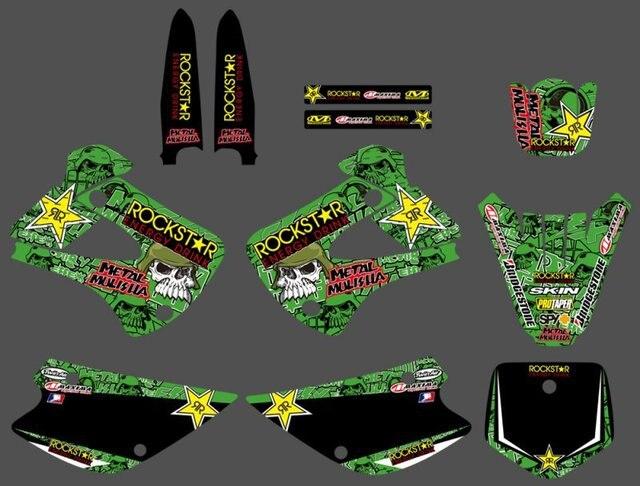 Графика и фон наклейка комплект для Kawasaki KX85 KX100 2001 02 03 04 05 06 07 08 2009 2010 2011 2012 2013 KX 85 100