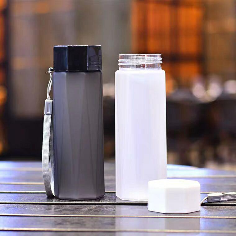 Water bottle Portable Transparent Soda Lemon Tea Cup Travel Camping Drinking Sport Bottle 1