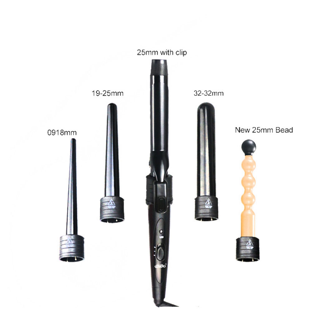 New 5 Parts Clip Hair Iron Set Styling Tool 5 In 1 Hair Curlers Care Styling Curling Wand Electric Hair Curler Interchangeable dodo 3 in 1 interchangeable curling wand hair curler iron ceramic curling irons hair styling tool electric hair curler comb set