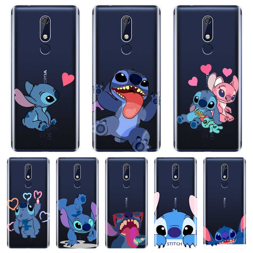 Funny Cute Kawaii Stitch Phone Case For Nokia 7.1 6.1 5.1 3.1 2.1 Soft Silicone Back Cover For Nokia 2.1 3.1 5.1 6.1 7.1 Plus