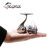 ANYFISH MICRO POWER fishing reel spinning 500 800 mini spinning reels pesca carretilha small fishing wheel Winter Ice Fishing(China)