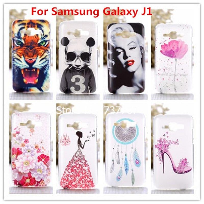 Crystal Diamond 3D pouzdro pro Samsung GALAXY J1 j100 Bling Shine Hard Protector Pro fondy Samsung Galaxy J1 2015 J100 J100F