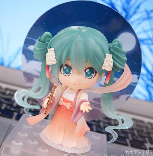 Mid-Autumn moon cake Hatsune Miku Nendoroid Anime Collectible Action Figure PVC toys for christmas gift with retail box