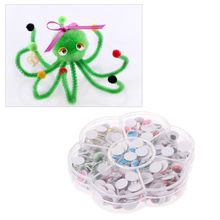 цены Wholesale 240Pcs 10mm Self-adhesive Safety Doll Eyes With Eyelashes DIY Crafts Bear Stuffed Toys Animal Puppet Dolls Accessories