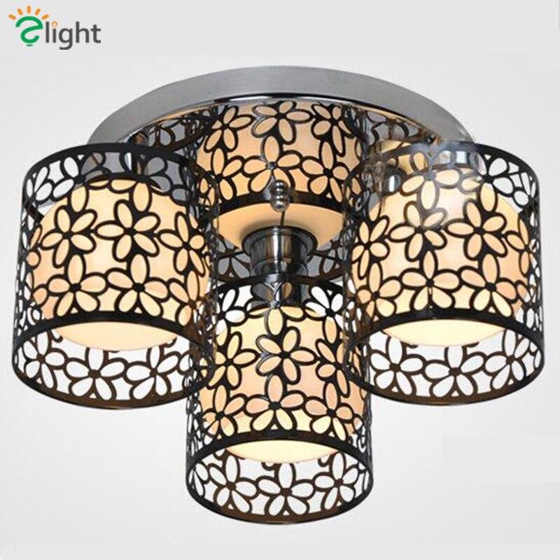 Modern Hollow Metal Petal Shades Led Chandelier Minimalism Chandelier Lighting Indoor Ceiling Fixtures Indoor Lighting