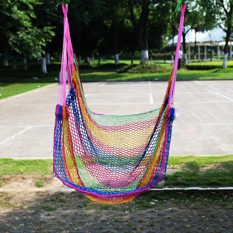 Hamac extérieur de maille d'oscillation de hamac simple de chaise accrochante légère respirable d'été avec l'oreiller
