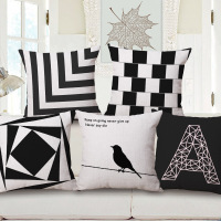 Fashion Geometry Bird Letter A One Side Printing Home Decor Sofa Car Seat Decorative   Cushion     Cover   Pillow Case Capa Almofada