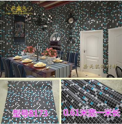 Thick PVC Mosaic Self Adhesive Wallpaper Kitchen Waterproof Oil Proof Bathroom Tiles Stickers 95 In Wallpapers From Home Improvement On