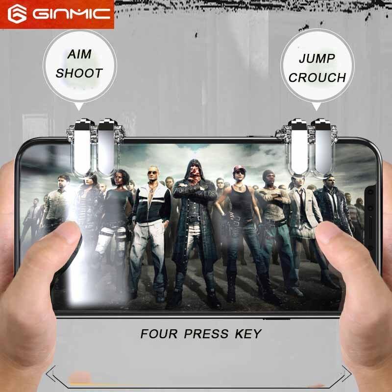 Mobile Game Fire Button Aim Key joystick Smart phone Mobile Game Trigger L1R1 Controller for PUBG Four button version