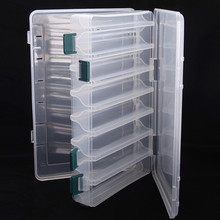 Portable Fishing Accessory BoxDouble Sided16 Compartments 27*18*4.7cm