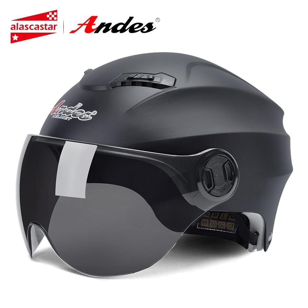 Andes Motorcycle Helmet 3 4 Open Face Moto Helmets Scooter Unisex Biker Motocross Motorbike Casque Moto Helmet Motorcycle Racing