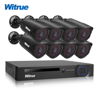 Witrue 8CH Surveillance System 1080P AHD DVR 8pcs 2 0MP Sony IMX323 Surveillance Camera Outdoor Waterproof