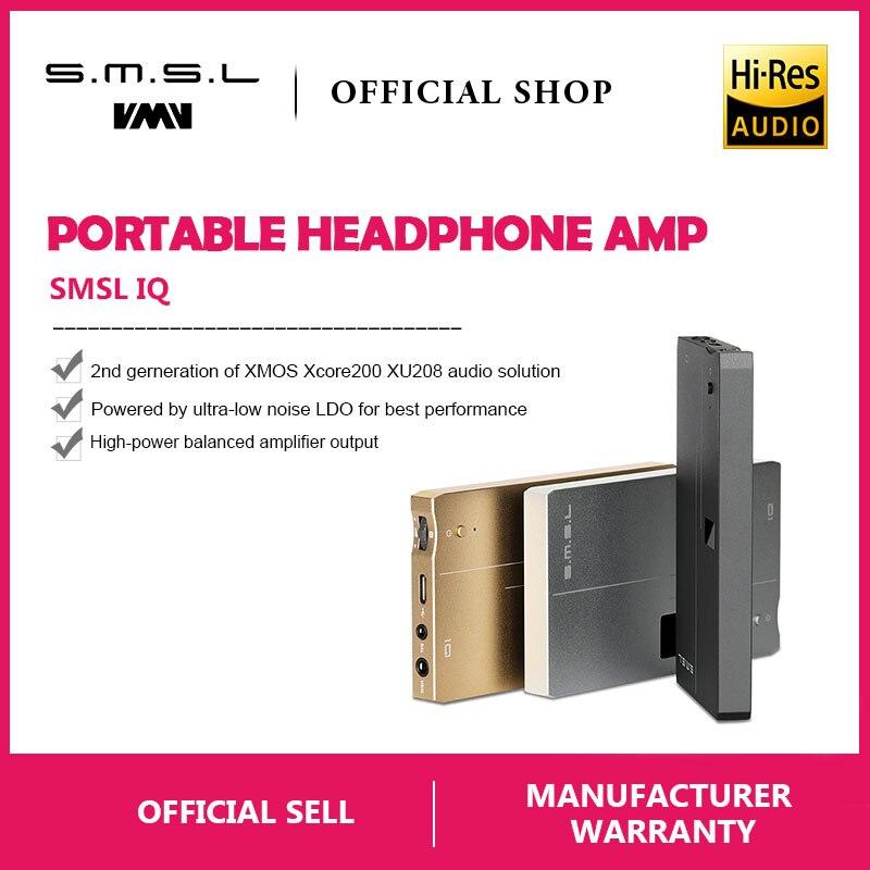 SMSL IQ USB HI-RES Portable casque Amplificateur avec DAC DSD512 PCM 768 khz construit en batterie rechargeable 2.5mm et 3.5mm sortie