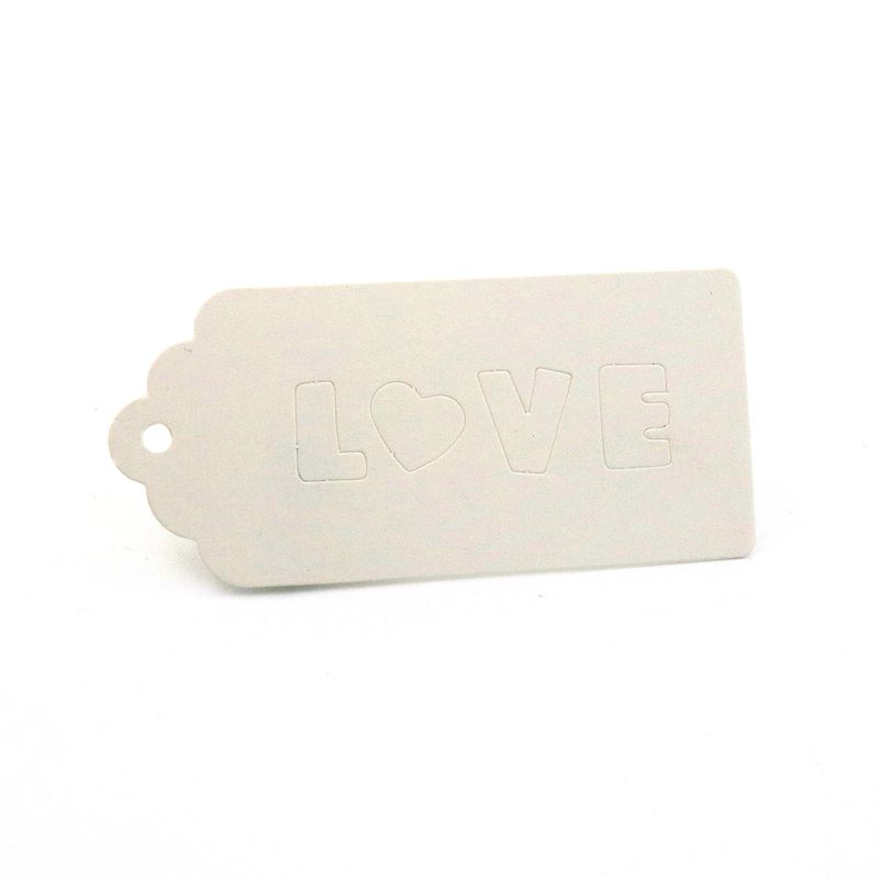 4 7X10CM 50PCS Blank Rectangle Hollow Out LOVE Jewelry Tags Kraft Paper Label Tags For Jewelry Handmade DIY Gift Accessories in Jewelry Packaging Display from Jewelry Accessories