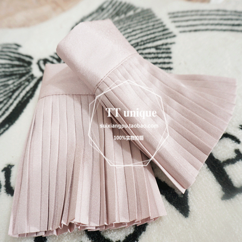 Women Warm Soft Gloves Lady Accessories Beaded Net Yarn False Sleeve Cuff Mysterious Noble Light Familiar Temperament Pleated