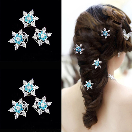 Новое Прибытие 3 Х Девушки Невесты Принцесса Снежинка Спираль Заколки Заколки Аксессуары Для Волос