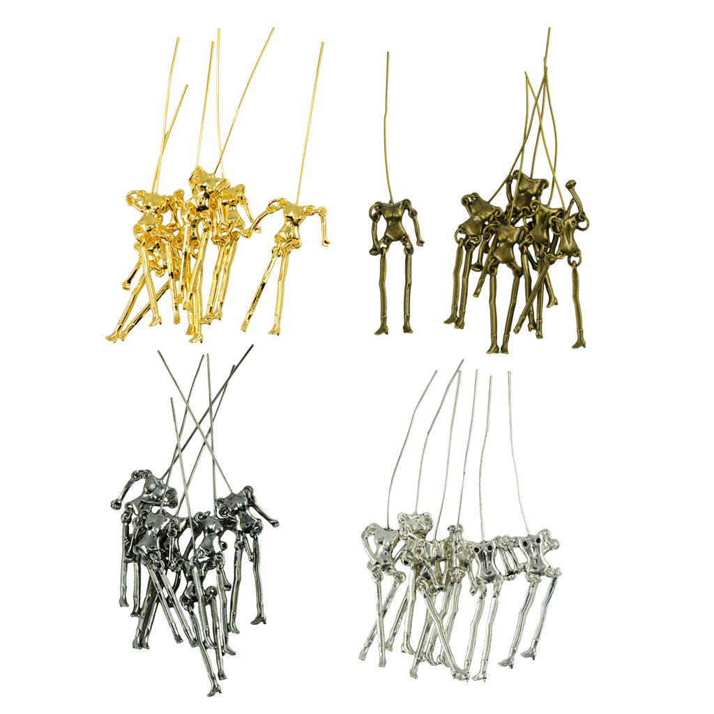 24 Pieces Human Shape Skeleton Body DIY Dolls Pendant For Jewelry Making Craft Girls Charms Findings Doll цена