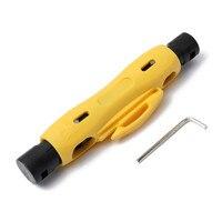 Alicate narzędzia szczypce sprzedaży prawdziwe ganzo wielu narzędzi kabel drutu pióra stripper cutter dla rg59 koncentryczny koncentryczny rg7 rg11 rg6 rozbiórki