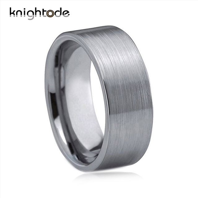 Knightode 10mm Tungsten Carbide Wedding Band For Men Pip Cut Brushed Surface Comfort Fit