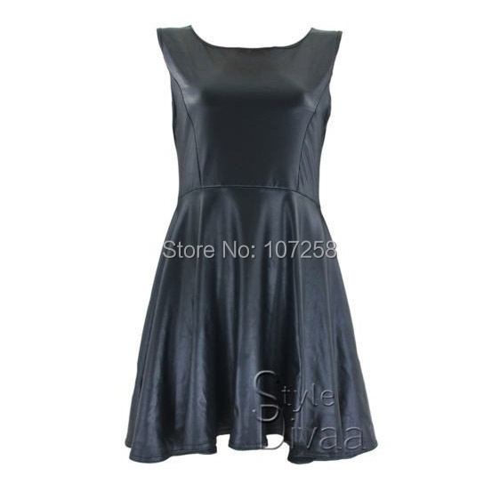 Aliexpress Buy High Quality Pu Faux Leather Black Casual Dress