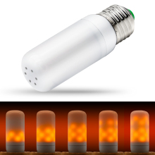 LED Flame Lamp E27 Light Bulb Corn Effect Fire 220V Flickering 110V 42leds Christmas Lights