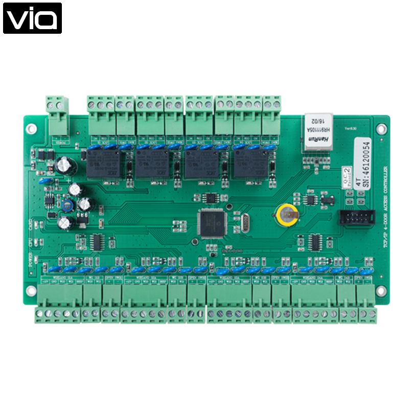 ФОТО MC-5848T Free Shipping TCP/IP Four Doors Access Control Board, Four Exit Button Input Port, Eight WG26/34 Card Reader Input