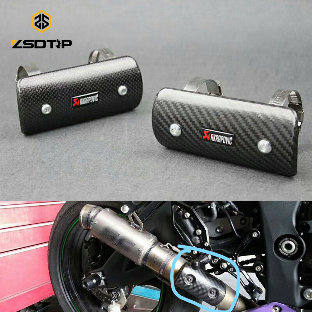ZSDTRP Motorcycle Modify exhaust protect cover carbon fibre universal for BMW honda GXSR 1000 and other all racing motor