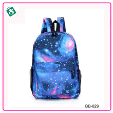 New 2016 Fashion Unisex Stars Universe Space Printing Backpack School Book Backpacks for girls British-flag Shoulder Bag BB-029