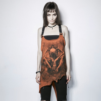 Punk Irregular Prints Sleeveless Vest For Women Summer Fashion Sexy Backless Tank Tops