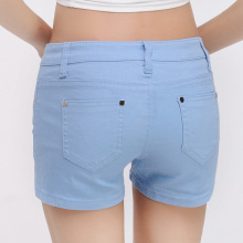 Slim Denim Shorts