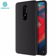 Nillkin synthetic fiber phone case for oneplus 6 Carbon Fiber PP Back Cover Case for oneplus 6 one plus 6