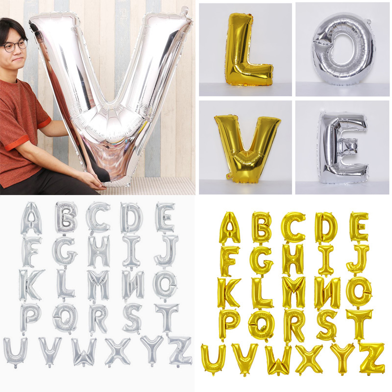 1pc 40inch Wedding and Birthday Party Letter Balloons Diy Name Aluminium Foil Ballons Birthday Party Decorations Kids and Adult in Ballons Accessories from Home Garden