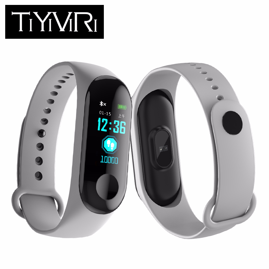"""Brave New M3 Smart Bracelet 0.96"""" Screen Blood Pressure Oxygen Heart Rate Monitor Fitness Tracker Smart Wristband Pk Mi Band 3 Durable In Use"""