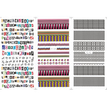 3 PACK/LOT AIR TRANSFER DECAL NAIL ART NAIL STICKER ALPHABET RENDA HITAM PAPAN CATUR YE225-227(China)