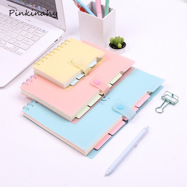Creative Candy Color Smile Binder Spiral Notebook Travel Journal School  Agenda Pads Blog Diary Book