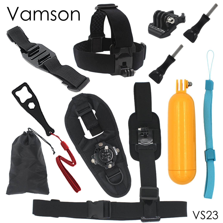 Galleria fotografica 10 in 1 Accessories Wrench Kit Single Shoulder Strap Tripod 360 Hand Strap Monopod For Go pro Hero 4 3+ for Xiaomi for Yi VS23