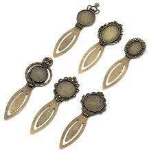 5 шт античная бронза Винтажная закладка основа для кабошона