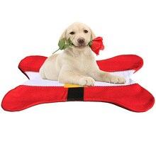 2 pcs / lot Christmas Dog Bed Pads Santa Belt Bone Shape Design Pet Sleeping Nap Mat Cat Couch Pad Supplies Xmas Holiday