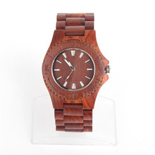 Natural wood brown handmade unisex men Vegan Quartz Casual Wrist original watch WA-64-5602