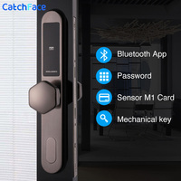 Venta Cerradura digital electrónica WIFI APP sin llave digital Bloqueo de puerta tarjeta inteligente teclado contraseña código